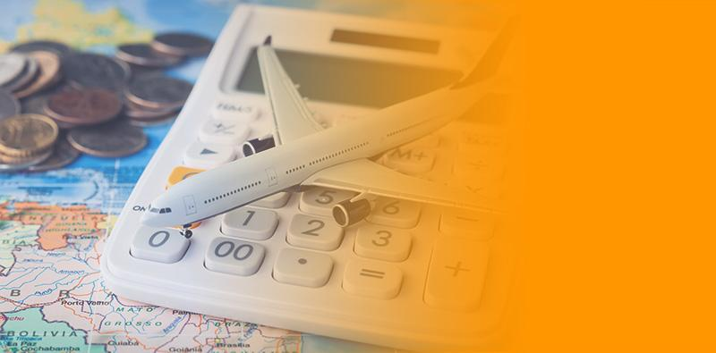 Pieniądze, kalkulator imodel samolotu namapie